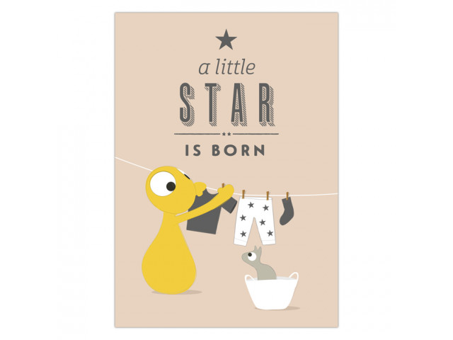 Ansichtkaart A little star is born
