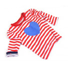Shirt | Red White Stripe & Blue Heart