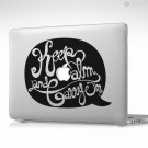 Keep Calm And Carry On Apple MacBook