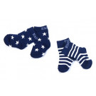 Sokken | Navy Stripe/Star  | Flower, Scottie & Submarine