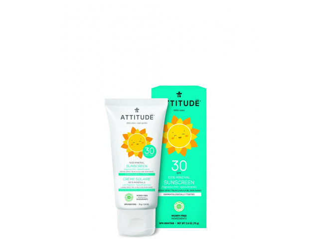Baby Sunscreen SPF30 - 100% Mineral - Fragrance Free
