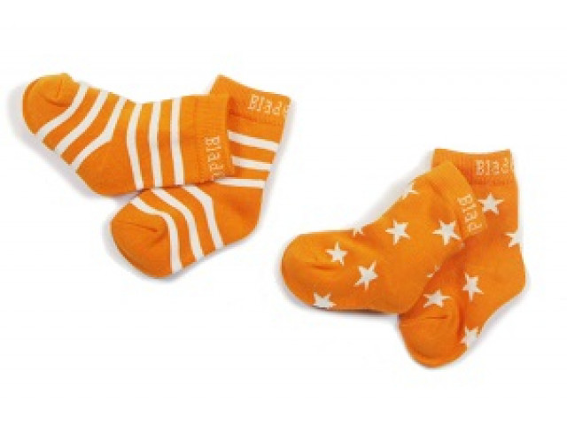 Sokken | Orange Stripe/Star | Fox & Crocodile