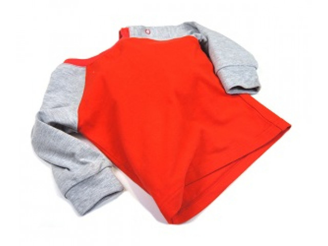 Shirt | Raglan Red & Plain Grey