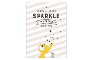 Ansichtkaart | Leave a little sparkle